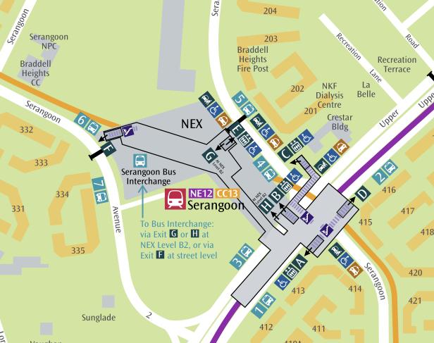 SMRT  Trains  NetworkMap  Serangoon